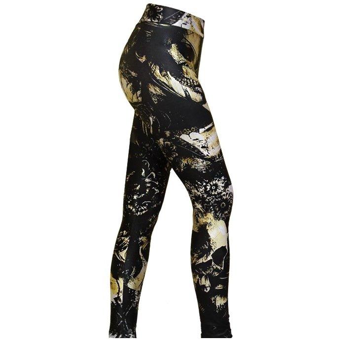 Blossom Preto Spartanus Fightwear Calça de Compressão Calça de Spartanus Compressão Shine Fightwear Uza7pU
