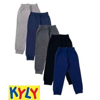 Calça de Moletom C/ Punho - KYLY - Lukas Kids Moda infantil