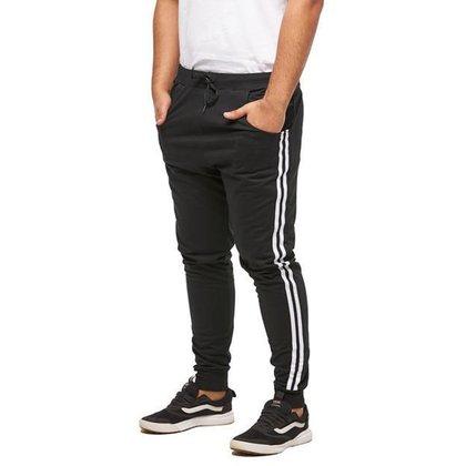 CALÇA DE MOLETOM MASCULINA SARUEL SKINNY SPORT LUXO - M1-VERMELHO-GG