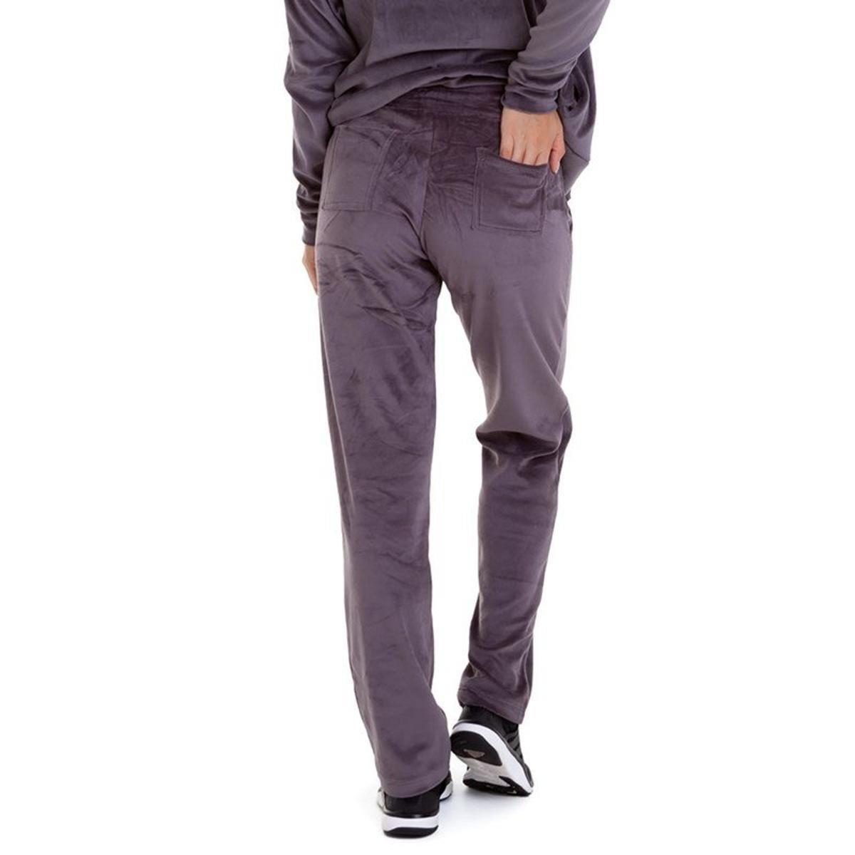 Calça de Plush Best Fit Feminina - Cinza - Compre Agora  83747e669b93c