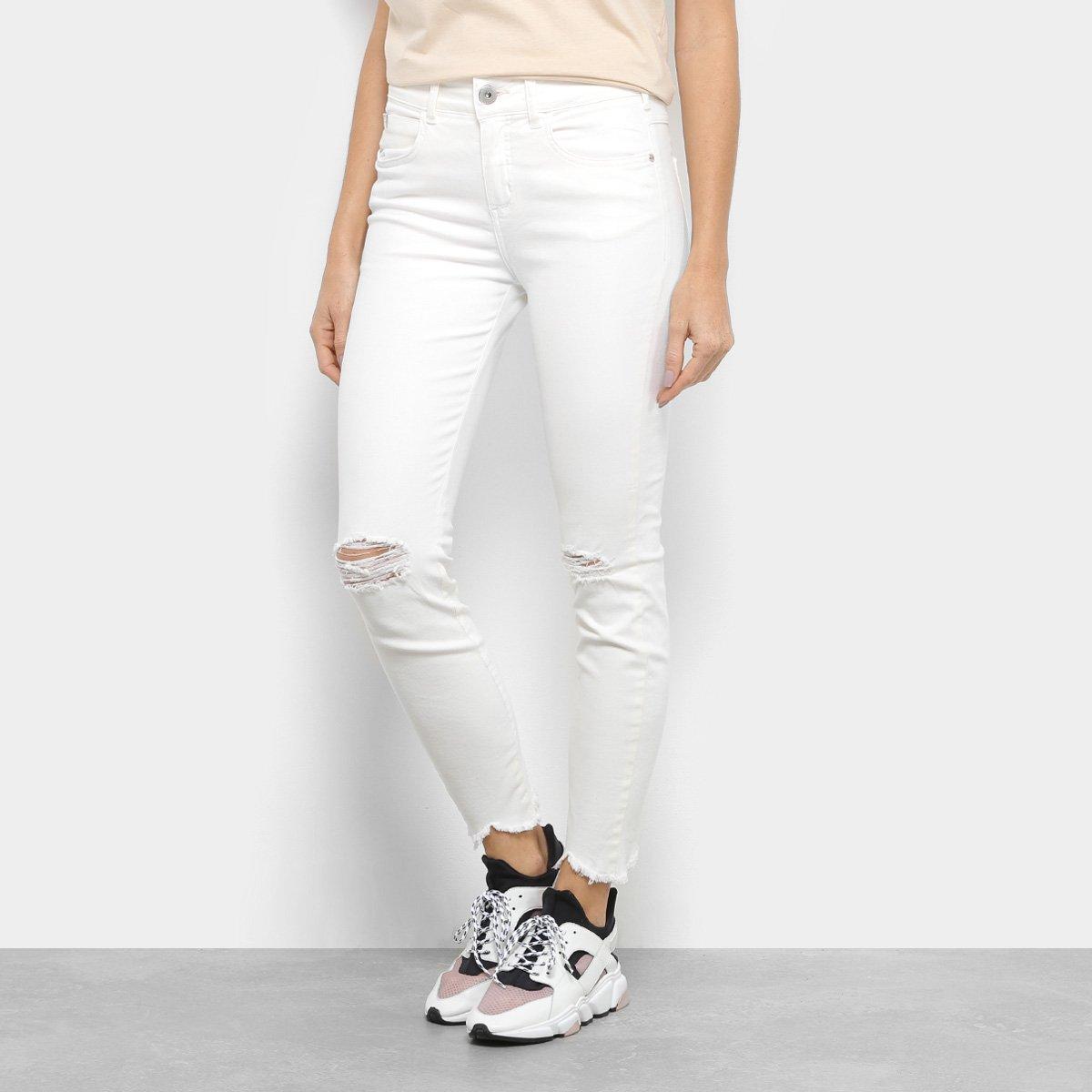 6d7d7d258 Calça De Sarja Skinny Colcci Cory Cintura Média Feminina - Off White - Compre  Agora
