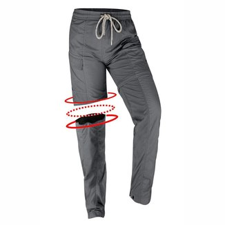 Calça feminina Ballyhoo com elástico na cintura, zíper na perna, com fator de proteção solar 50  UPF