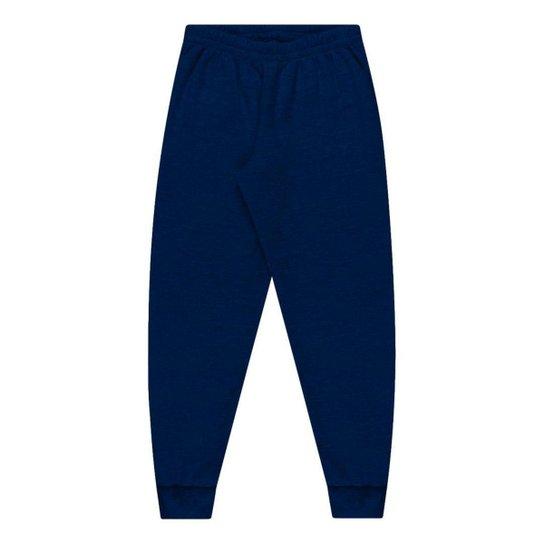 CALCA FLANELADA COM PUNHO 155 - Azul