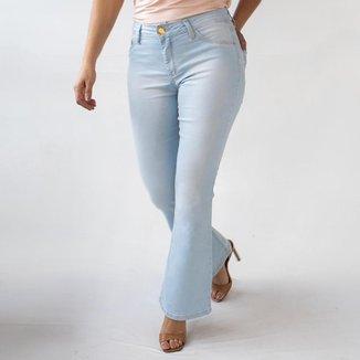 Calça Flare Petit Jeans Clara Feminina Cintura Media Anticorpus