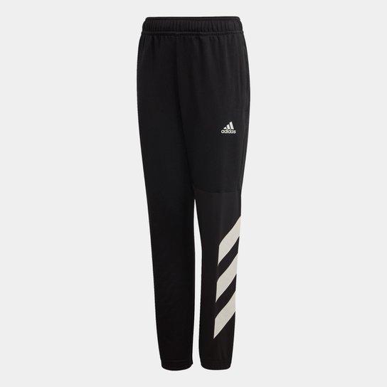 Calça Infantil Adidas Jb A Xfg Masculina - Preto+Branco