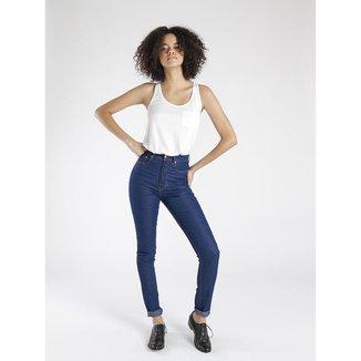 Calça Jeans Amapô Cintura Alta Delavê Feminina