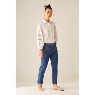 Calça Jeans Bolsos Frontais Sacada