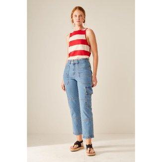 Calça Jeans Cargo Sacada