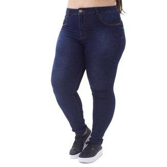 Calça Jeans Cigarrete Básica Plus Size Feminina Mix Jeans