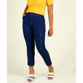 Calça Jeans Cigarrete Feminina Puídos Biotipo - 10045891489