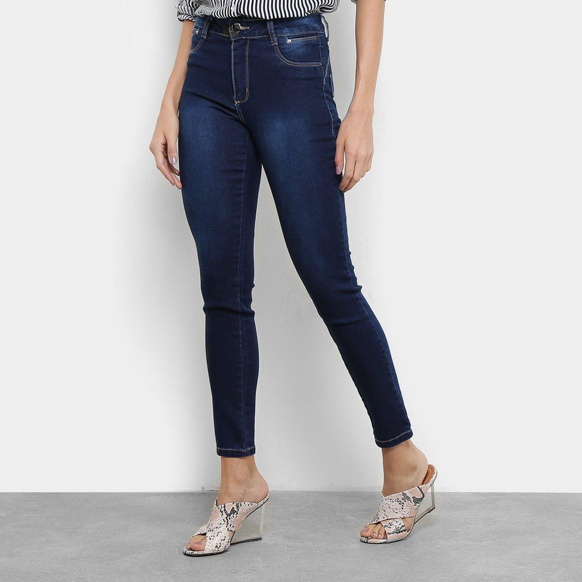 3fef3a2b3 Calça Jeans Cigarrete Sawary Estonada Cintura Média Heart Feminina - Compre  Agora | Netshoes