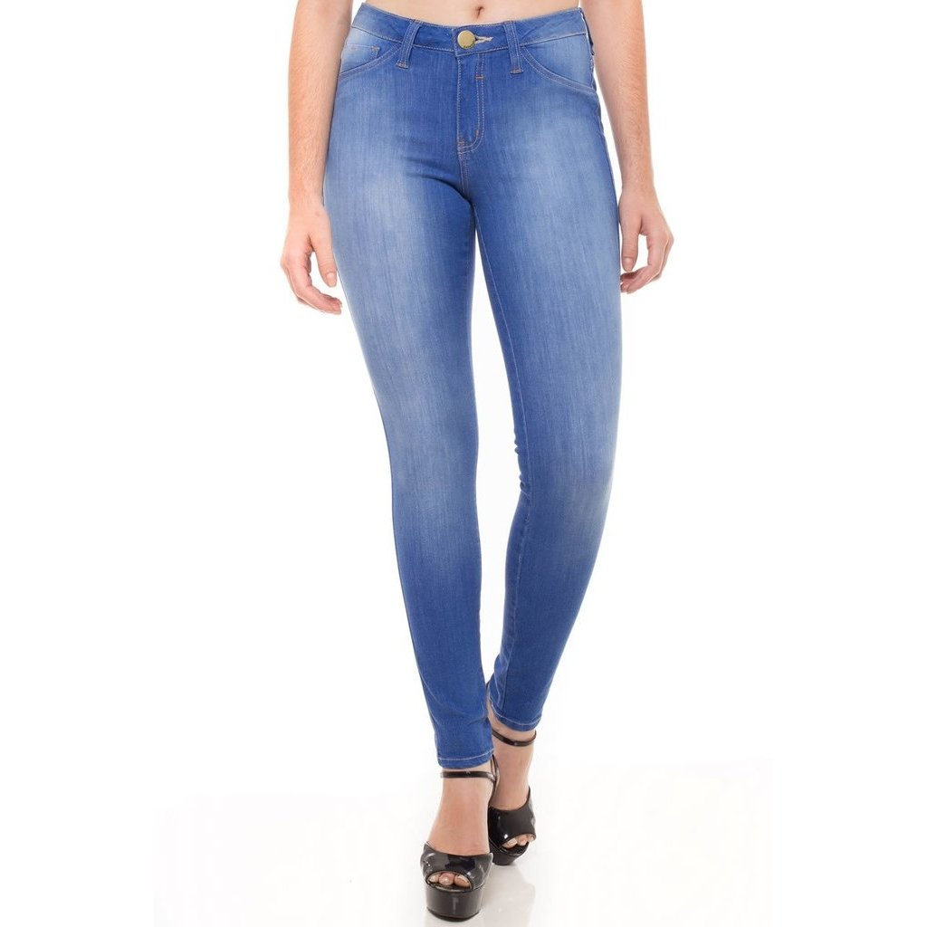 Jeans Azul Calça Eventual Azul Skinny Cigarrete Cigarrete Feminina Skinny Eventual Calça Feminina Jeans Calça 8wTdPqdX
