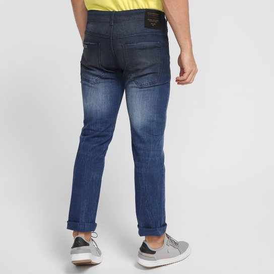 Calça Jeans Colcci Estonada Masculina - Azul