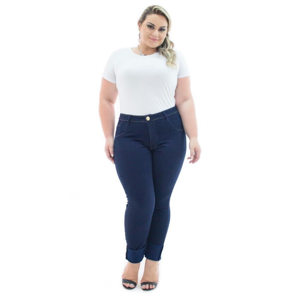 9a7f6ca69d Calça Jeans Confidencial Extra Plus Size Legging Cintura Alta Feminina