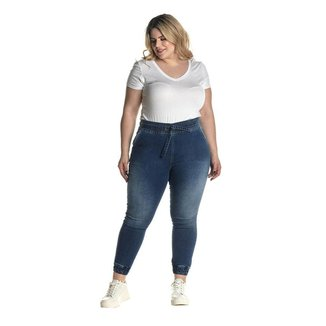 Calça Jeans Denuncia Jogger 201324309 Azul - Azul - 60