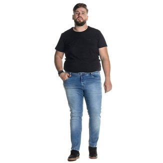 Calça Jeans Denuncia Skinny 101324245 Azul - Azul - 54
