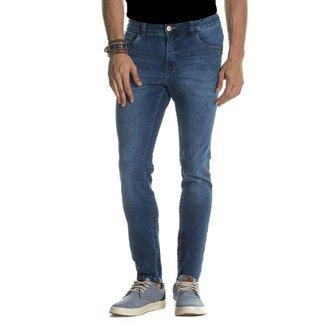 Calça Jeans Denuncia Skinny Z 101324254 Azul - Azul - 46