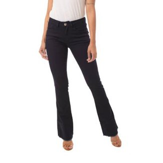Calça Jeans Eventual Boot Cut New Low Feminina