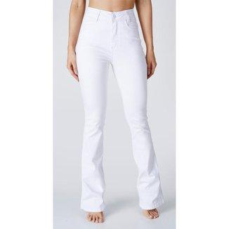 Calça jeans express hot flare branca estela