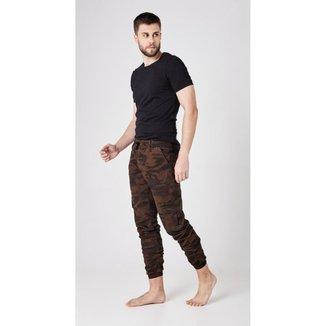 Calça Jeans Express Jogguer Militar Marrom