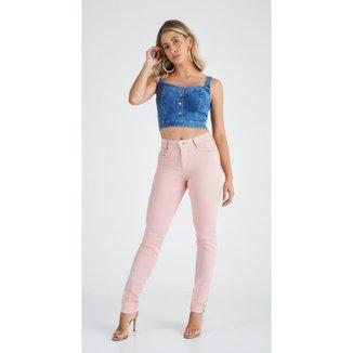 Calça Jeans Express Skinny Color Rose