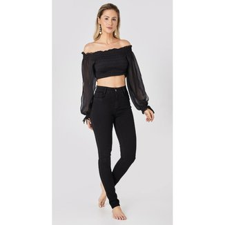 Calça jeans express skinny mellody preto