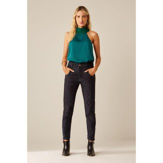 Calça Jeans Faixa Lateral Sacada
