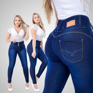 Calça Jeans Feminina Adulta Cintura Alta