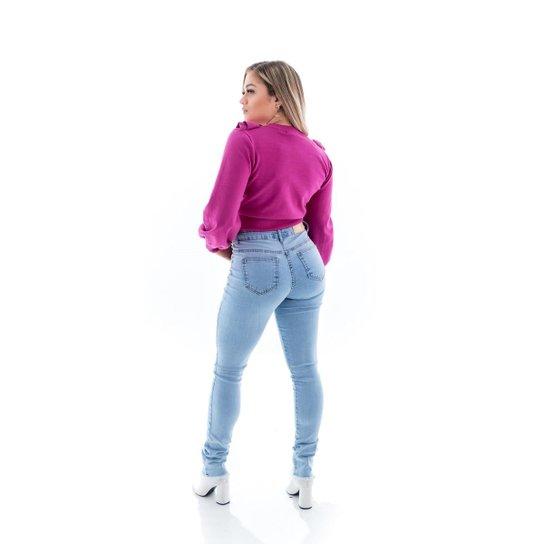 Calça Jeans Feminina Arauto Modelagem Skinny - Jeans Claro