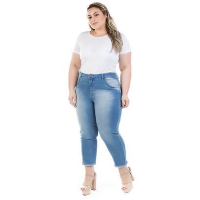 Calca Jeans Feminina Capri Squash Plus Size