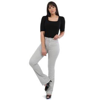 Calça jeans feminina flare - 268430 36