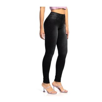 Calça Jeans Feminina Preta Skinny Biotipo