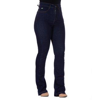 Calça Jeans Feminina Pro Tork Catarina Flare Cós Alto Casual