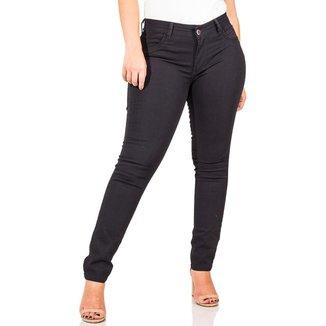 Calça Jeans Feminina Skinny Cós Médio Up Com Elastano