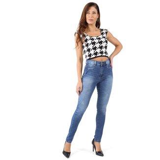 Calça jeans feminina super lipo - 268032 48