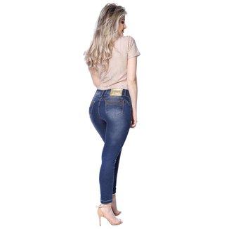 Calça Jeans Feminina  Zigma Skinny Com Bojo No Bumbum