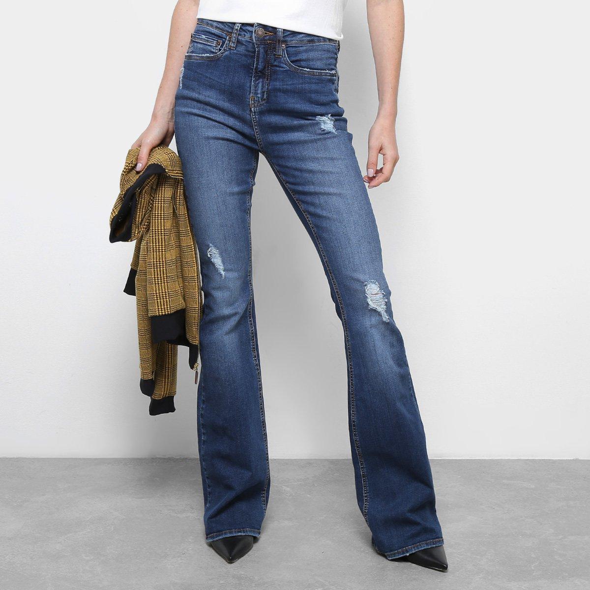 9a68a7d29 Calça Jeans Flare Calvin Klein Five Pockets Cintura Média Feminina |  Netshoes