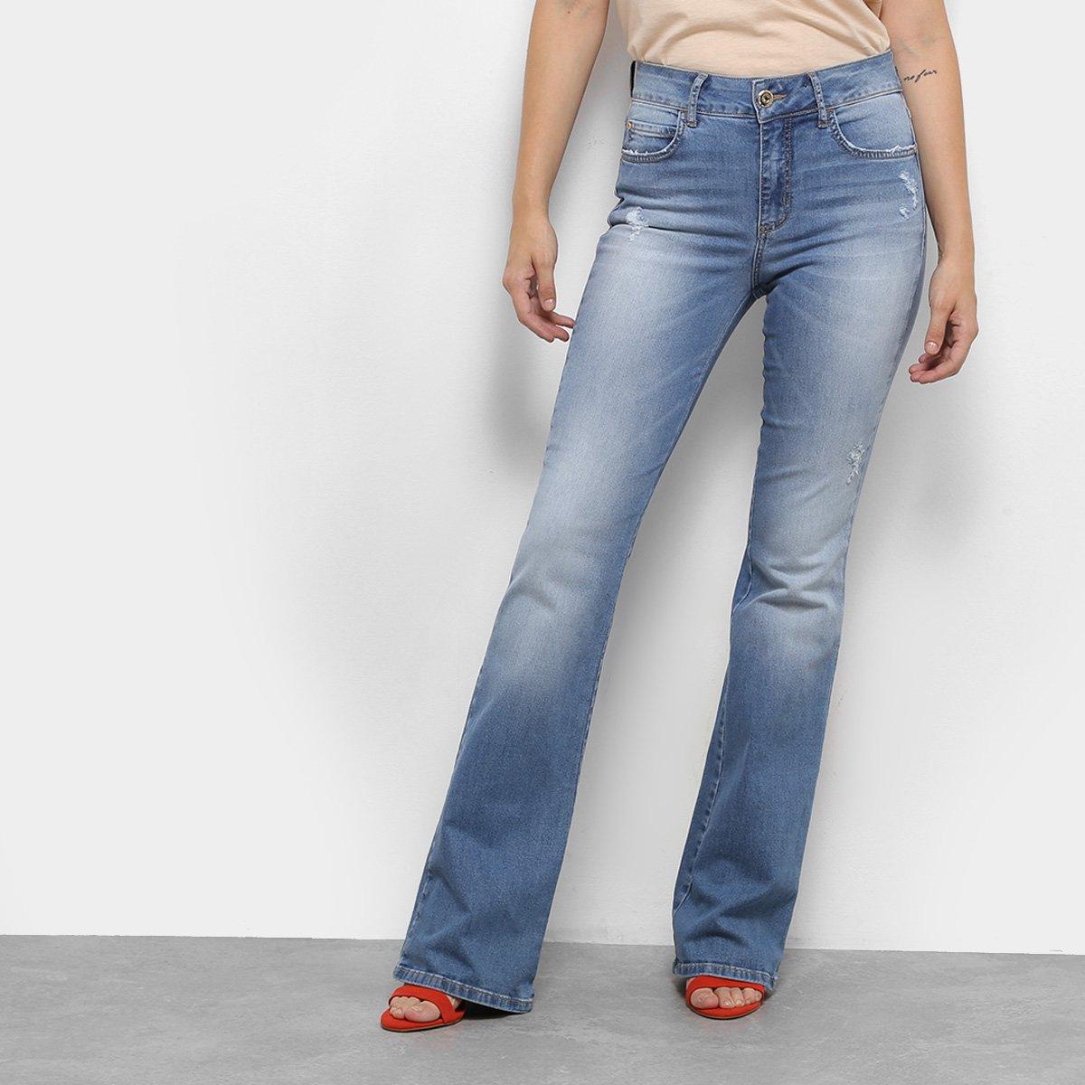 d2c091b85 Calça Jeans Flare Colcci Estonada Cintura Média Feminina | Netshoes