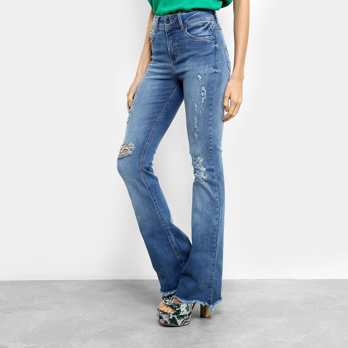 51413416f Calça Jeans Flare Colcci Feminina - Azul - Compre Agora | Netshoes