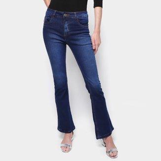Calça Jeans Flare Exco BSC TM6 B28 Cintura Média Feminina
