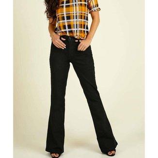 Calça Jeans Flare Feminina Cintura Média Razon - 10047170889