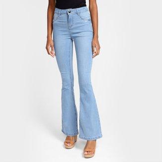 Calça Jeans Flare Grifle Feminina