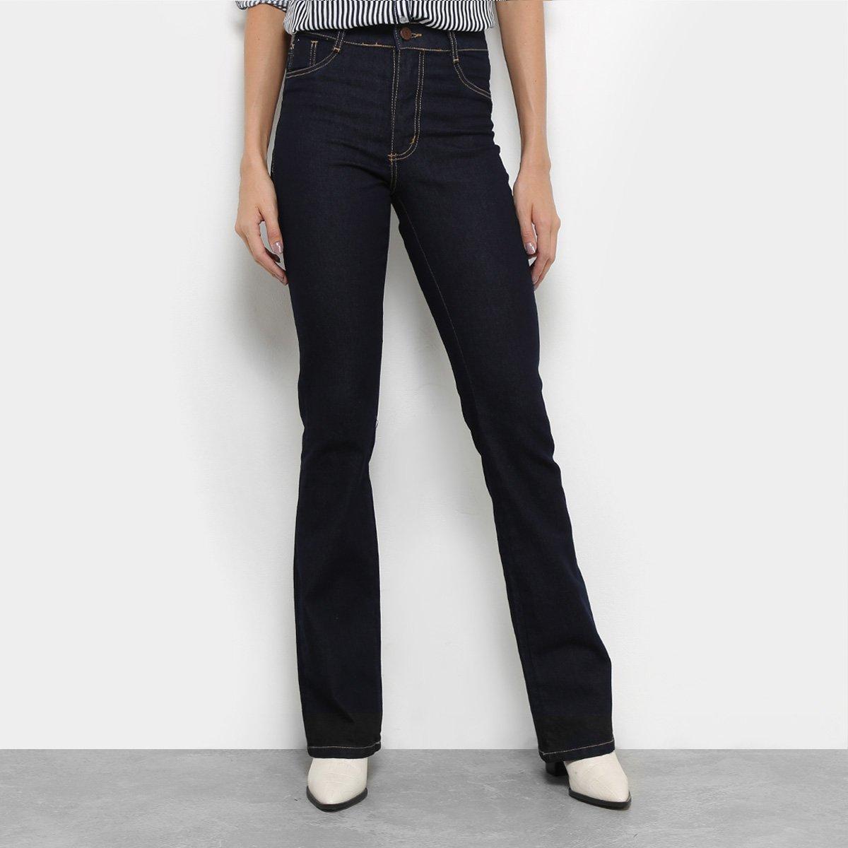 35298e50c Calça Jeans Flare Sawary Lavagem Escura Cintura Média Feminina - Compre  Agora | Netshoes
