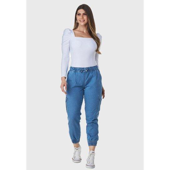 Calça Jeans HNO Jeans Mon Jogger Azul - Azul