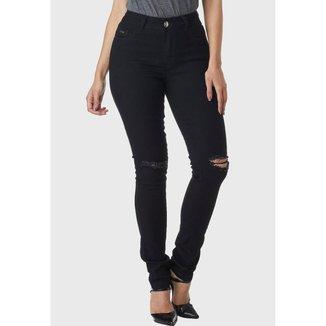 Calça Jeans HNO Jeans Skinny Rasgada Preta