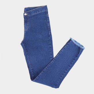 Calça Jeans Infantil Hering Barra Desfiada Feminina