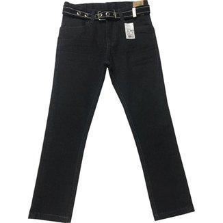 Calça Jeans Infantil Oliver Confort Com Cinto Masculina