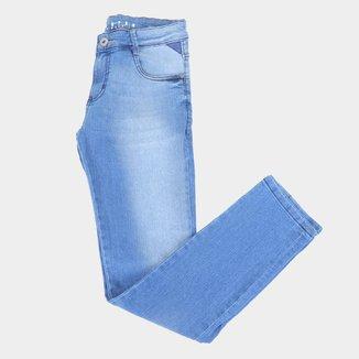 Calça Jeans Juvenil Gangster Básica Cintura Média Masculina