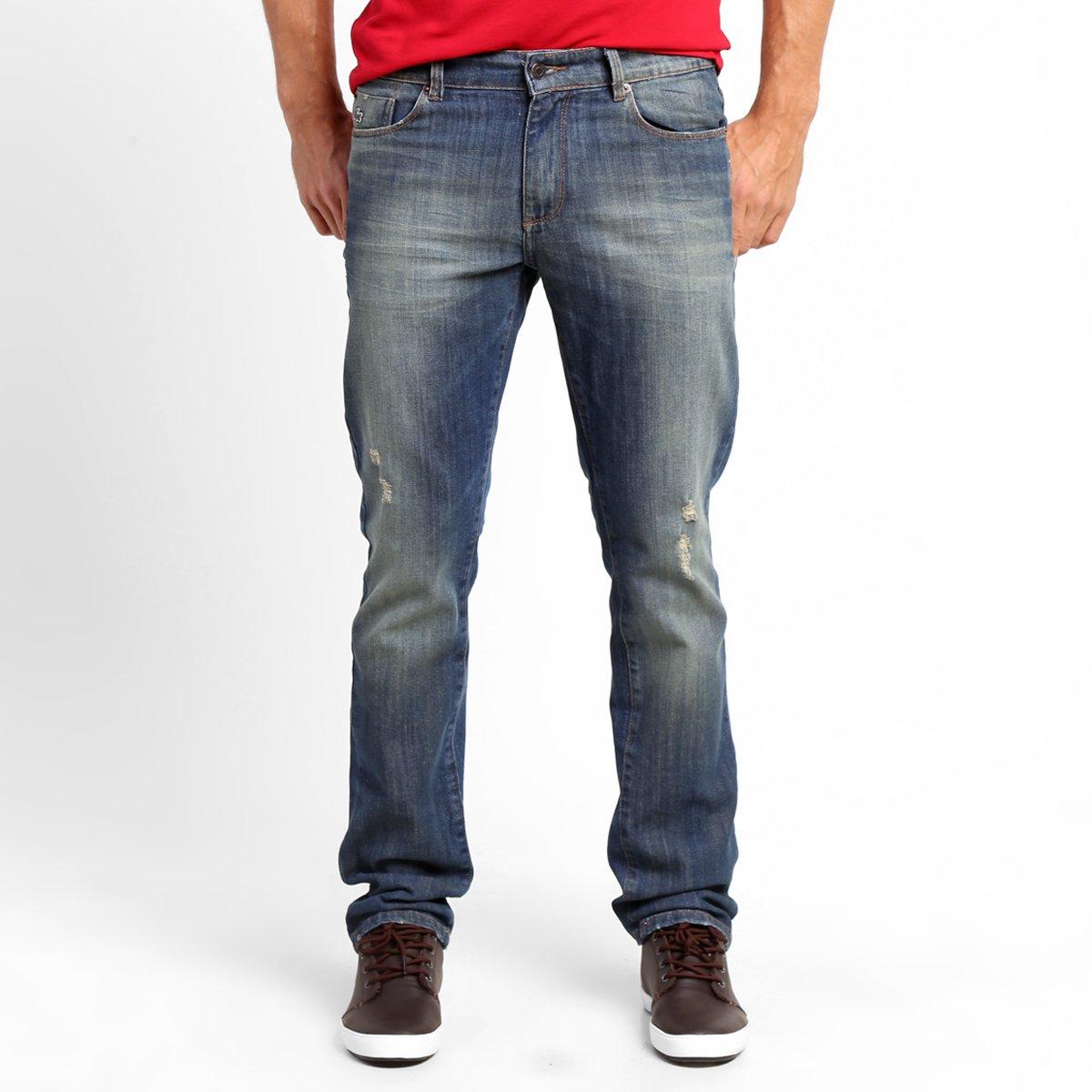 9c8cdde5b21d4 Calça Jeans Lacoste Reta - Compre Agora