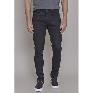 Calça Jeans  Lemier Slim Fit Black Basica Masculi